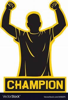 Champion Designs Sport Fan Champion Design Royalty Free Vector Image