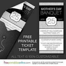 Free Online Ticket Template Free Printable Banquet Ticket Template Free Printables