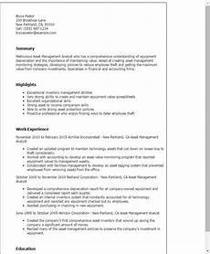 Asst Manager Resume 1 Asset Management Analyst Resume Templates Try Them Now