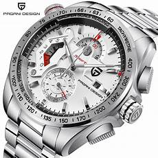 Steel By Design Watch Pagani Design Chronograph Sport Watches Men Luxury Brand