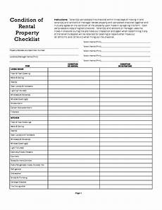 Property Inspection Checklist Condition Of Rental Property Checklist Free Download