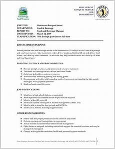 Resume For A Server For 50 Year Olds Job Resume Examples Server Resume Job
