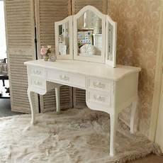 white wooden dressing table desk mirror home