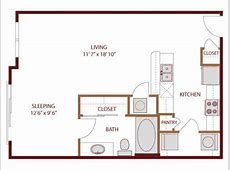 569 sq ft studio apartment layout *** I like the galley kitchen but would need more counter