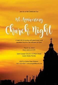 Church Invitations 8 Church Invitation Templates Free Sample Example