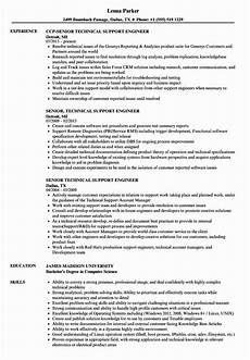 Resume Of Desktop Support Engineer 20 It Support Technician Resume With Images Sales