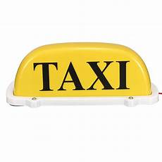 Taxi Yellow Light Clip Dc12v Car Taxi Cab Roof Top Sign Light Lamp Magnetic