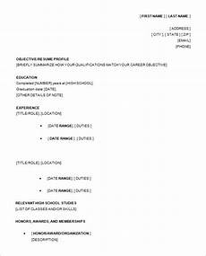 Resume Outline For High School Students Resume Template For High School Student Taylor