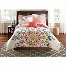 mainstays medallion bed in a bag comforter set