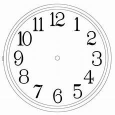 Template Clock Clock Templates Clipart Best