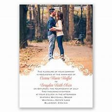 Wedding Invitation Card With Photo Filigree Crest Photo Wedding Invitation Available In 40