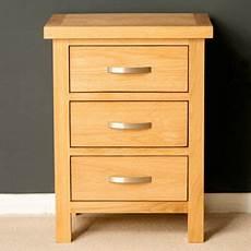 buy oak bedside table 3 drawer bedside light