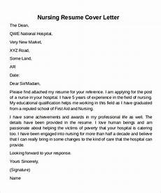 Nursing Resume Cover Letter Example 12 Cover Letter Samples Examples Templates Sample