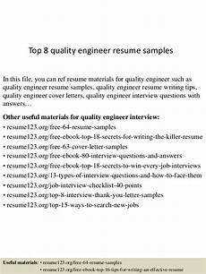 Quality Engineer Resume Samples Top 8 Quality Engineer Resume Samples