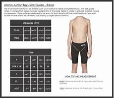 Speedo Swim Parka Youth Size Chart Sizing Charts Arena Swimwear