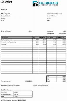 Invoice With Vat Template Sales Invoice Template 2 Free Sales Invoice Download Uk