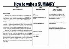 How To Write A Resu Writing A Summary In 3 Steps