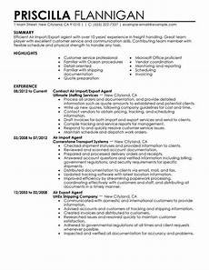 Import Export Resumes Best Air Import Export Agent Resume Example From