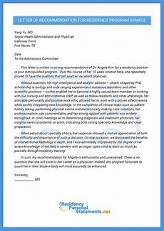 Letter Of Recommendation For Residency Professional Letter Of Recommendation For Residency