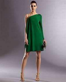 gucci asymmetric dress in green lyst