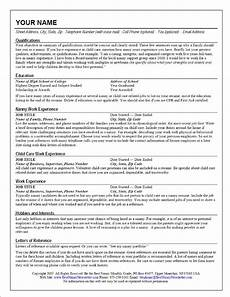 Resume Nanny Sample Creating A Nanny Resume Liveincaregiverbuzz