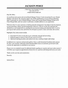 Management Trainee Cover Letter Samples Best Branch Manager Trainee Cover Letter Examples Livecareer