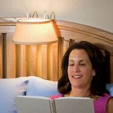 in bed headboard nightlight reading light