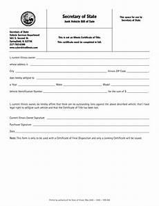 Vehicle Bill Of Sale Illinois Free Illinois Junk Vehicle Bill Of Sale Form Download