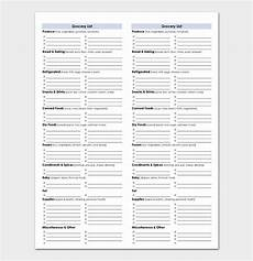 Shopping Checklists Shopping List Template 11 Checklists For Word Excel Pdf