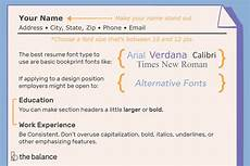 Perfect Font For Resumes The Best Font Size And Type For Resumes