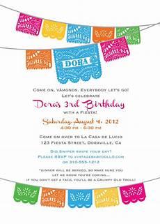 Fiesta Border Template Dora Birthday Fiesta Invitation Cinco De Mayo By