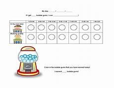 Gum Chart Lovin Learning Bubblegum Behavior Chart Freebie