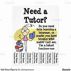 Math Tutor Flyer Examples Girl Tutor Flyer Zazzle Ca Tutoring Tutoring Flyer
