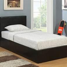 birlea berlin black 3ft single faux leather ottoman bed