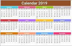 Printable 12 Month Calendar On One Page Free 2019 Calendar Printable Templates Blank Download