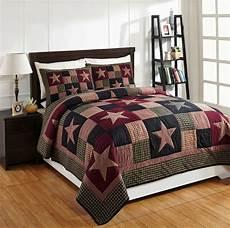 3pc plum creek king patchwork bed quilt set bedding