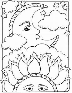 Malvorlagen Sonne Mond Und Sterne Sun And Moon Coloring Pages To And Print For Free