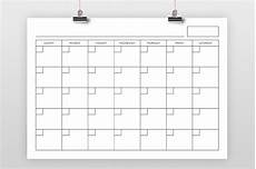 A4 Calendar Template A4 Blank Calendar Page Template By Running With Foxes