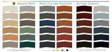 Roof Paint Colour Chart Colour Chart From Nutech Paint For Your Roof Brisco Roofing