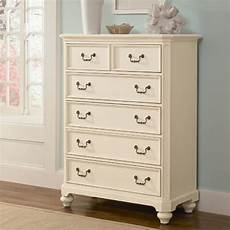 retreat in antique white 5 drawer chest modern by