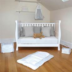 4baby 3 in 1 sleigh cot bed with maxi air cool mattress