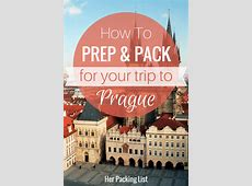 Prague Travel and Packing Guide   Her Packing List