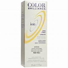 Color Brilliance Light Ash Ion 10a Lightest Ash Permanent Liquid Hair Color By
