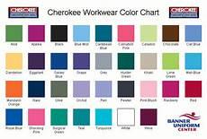 Scrub Color Chart Cherokee Uniforms Color Chart Nursing Scrubs