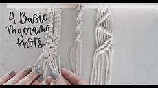 3 basic macrame knots square knot spiral knot
