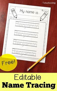 Design My Name Online Free Free Editable Name Tracing Printable Homeschool Giveaways