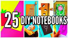 25 diy notebooks diy school supplies projects back to