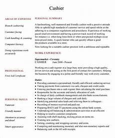 Cashier Resume Sample Free 5 Sample Cashier Resume Templates In Pdf