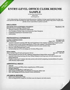 Sample Resume For Office Job Entry Level Office Clerk Resume Sample Administrative