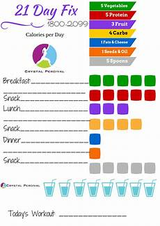 21 Day Fix Chart Crystal P Fitness And Food 5 Day 21 Day Fix Meal Plan For
